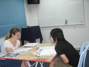 English reading session in progress